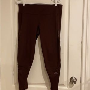 Dark purple Adidas leggings